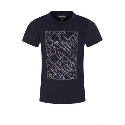 Junior Navy Embroidered Logo T-Shirt