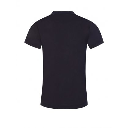 Junior Navy Embroidered Logo T-Shirt
