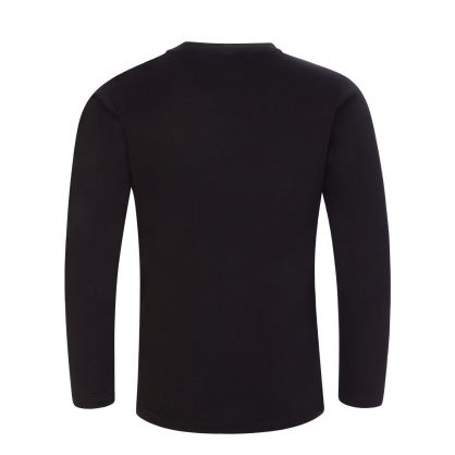 Junior Black Logo Long Sleeve T-Shirt