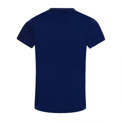 Junior Blue Eagle-Print Logo T-Shirt