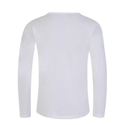 Junior White Logo Long Sleeve T-Shirt