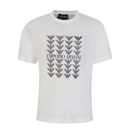 Junior White City Snow T-Shirt