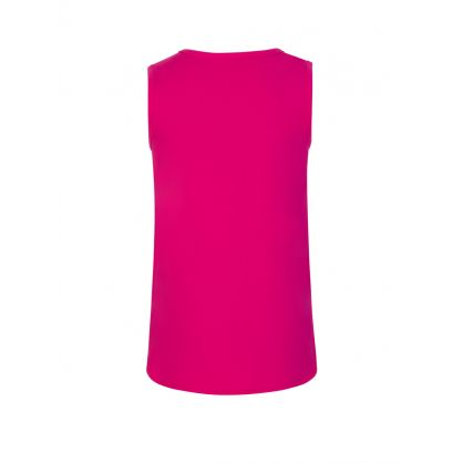 Kids Pink Side Logo Vest Top