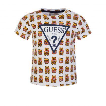 Kids Allover Bear Print T-Shirt