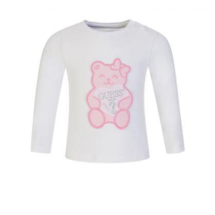 Kids White Teddy Bear T-Shirt