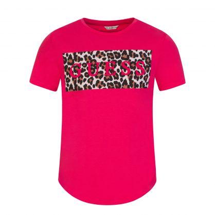 Kids Pink Animal Print T-Shirt