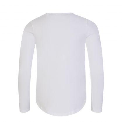 Kids White Sequin Bag T-Shirt