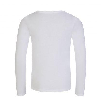 Kids White Long Sleeve Logo T-Shirt