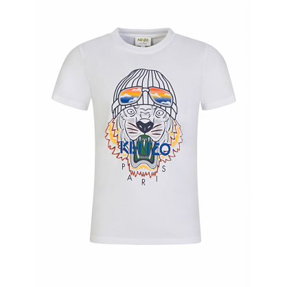 White Ski Tiger T-Shirt