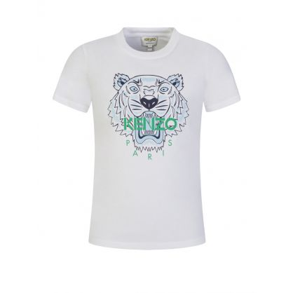 White Tiger Head Logo T-Shirt