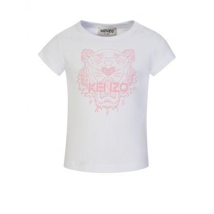 White Organic Cotton Tiger T-Shirt