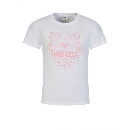 White/Pink Tiger T-Shirt