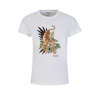 White Island Tiger Print T-Shirt
