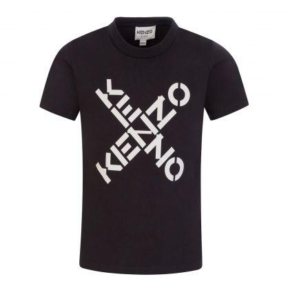 Black Sport 'Big X' Print T-Shirt