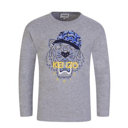 Grey Camo Hat Tiger T-Shirt