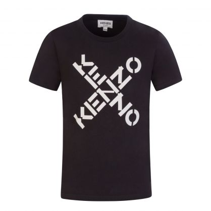 Black Sport 'Big X' T-Shirt