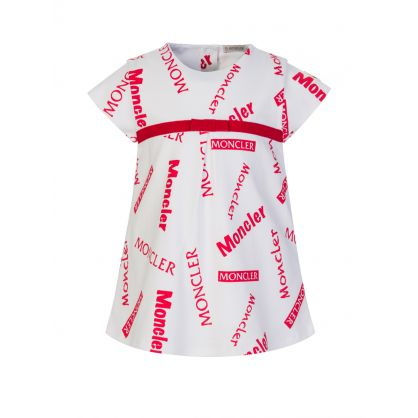 Red/White Logo Baby Dress Set