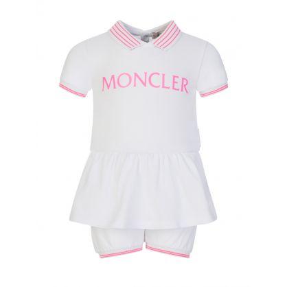 White Baby Dress and Shorts Set