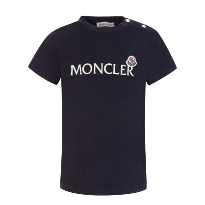Navy Lettering Graphic T-Shirt