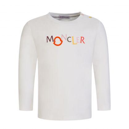 Ivory Long-Sleeve Colourful Logo T-Shirt