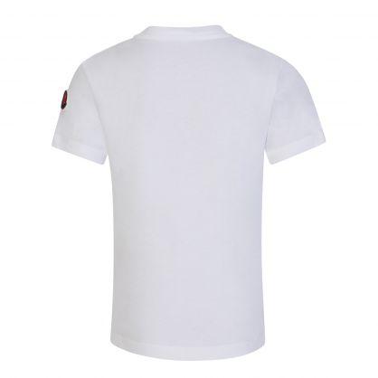 White Logo Embroidery T-Shirt