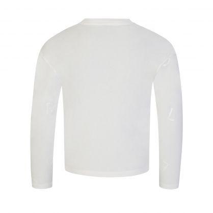 Cream Long-Sleeve Scrambled Letters T-Shirt