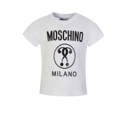 Kids White/Grey Milano Logo T-Shirt/Shorts Set