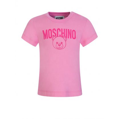 Kids Pink Bear Logo Baby T-Shirt