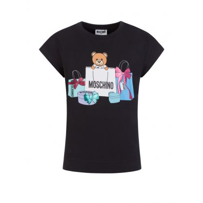 Kids Black Gift Bear T-Shirt