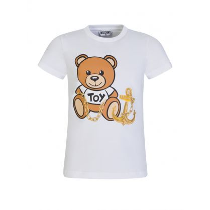 Kids White Bear & Anchor T-Shirt