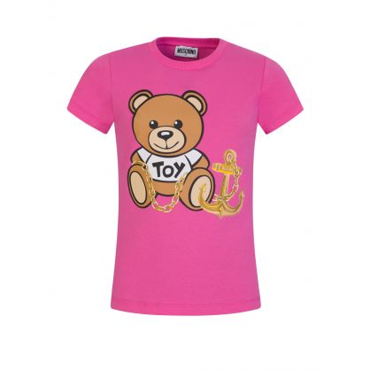 Kids Pink Bear & Anchor T-Shirt