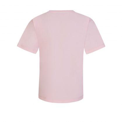 Kids Pink Teddy Bear Logo Maxi T-Shirt