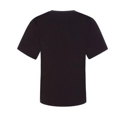 Kids Black Toy Bear Maxi T-Shirt