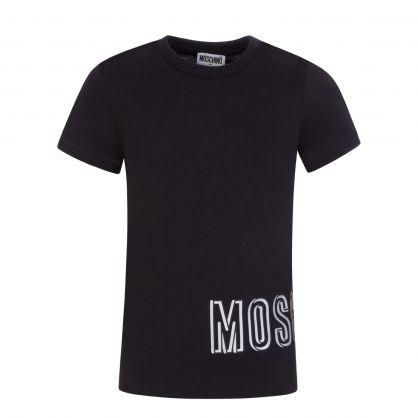 Kids Black Hip Logo T-Shirt