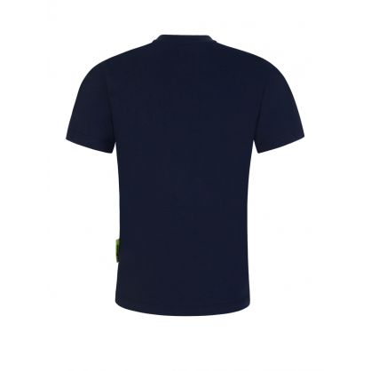 Kids Navy Logo Box T-Shirt