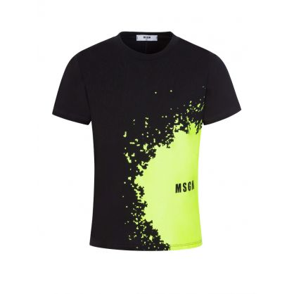 Kids Black Splash Logo T-Shirt