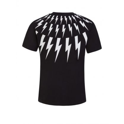 Kids Black Multi Lightning T-Shirt