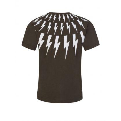 Kids Green Multi Lightning T-Shirt