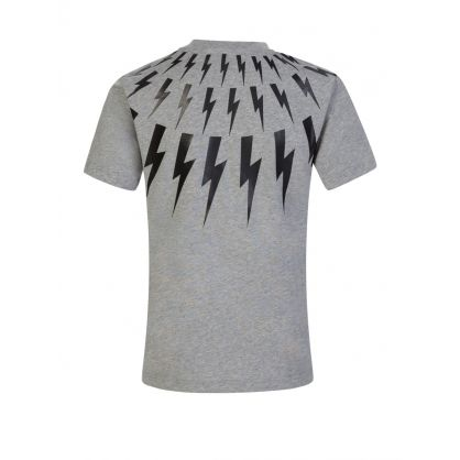 Kids Grey Multi Lightning T-Shirt