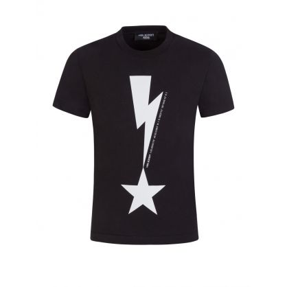 Kids Black Coordinates Thunderbolt T-Shirt