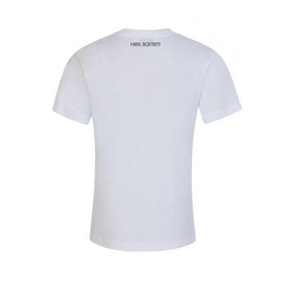 Kids White Multi Thunderbolts T-Shirt