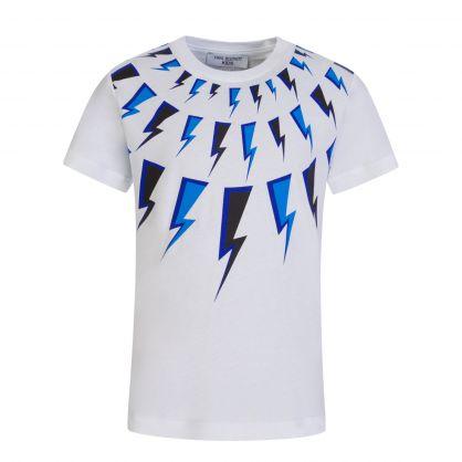 Kids White Thunderbolt T-Shirt