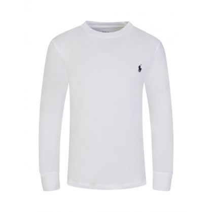 Kids White Long Sleeve Tee-Shirt