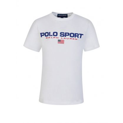Kids White POLO Sport T-Shirt