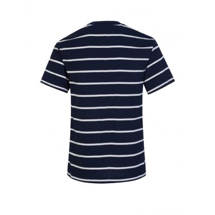 Kids Navy Stripe Short Sleeve T-Shirt