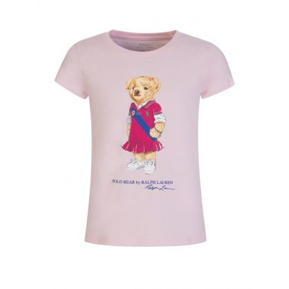 Kids Pink Polo Bear Dress T-Shirt