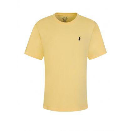 Kids Yellow Cotton Jersey T-Shirt