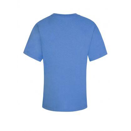 Kids Blue Cotton Jersey T-Shirt