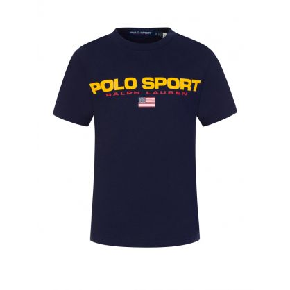 Kids Navy Blue Polo Sport Logo T-Shirt