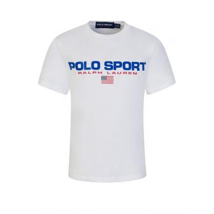 Kids White Polo Sport Classic Logo T-Shirt